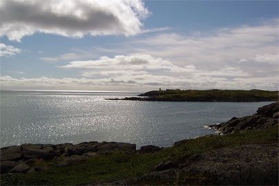 View of Fishing Point from Lamage Point in St. Anthony, Newfoundland
